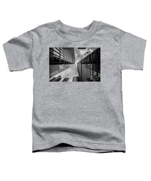 Toddler T-Shirt featuring the photograph Black And White Skyscraper by MGL Meiklejohn Graphics Licensing