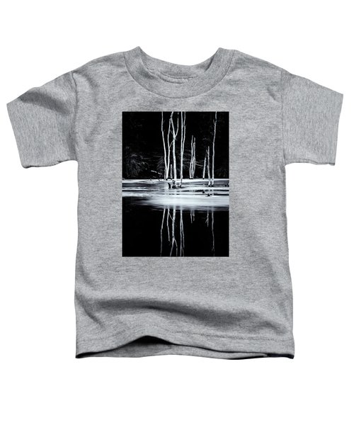 Black And White Winter Thaw Relections Toddler T-Shirt