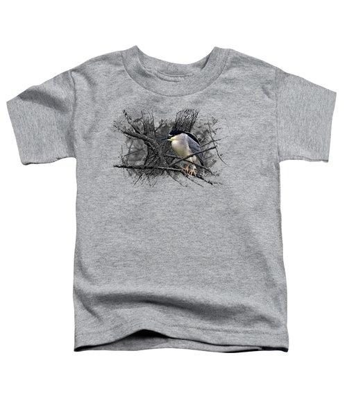 Black Crowned Night Heron 001 Toddler T-Shirt