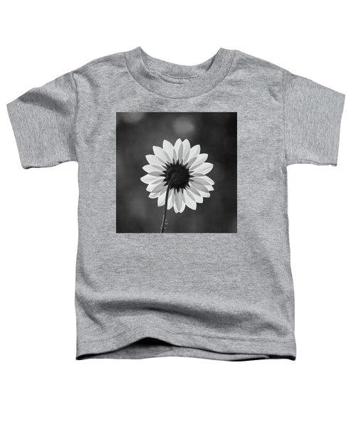 Black-eyed Susan - Black And White Toddler T-Shirt