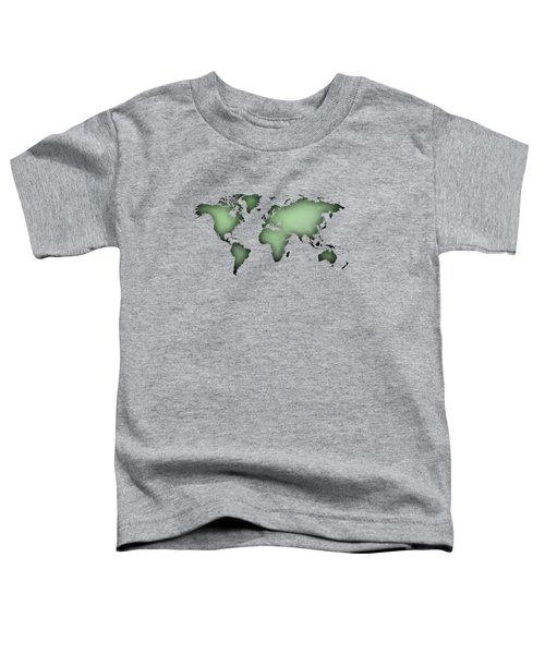 Black Worldmap Over Backlight  Toddler T-Shirt
