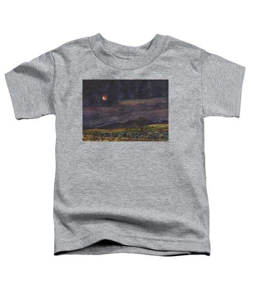 Blood Moon Over Boulder Toddler T-Shirt