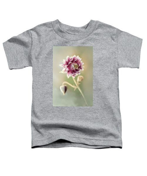 Toddler T-Shirt featuring the photograph Blooming Columbine Flower by Jaroslaw Blaminsky