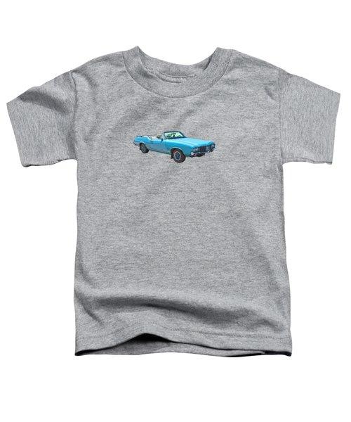 Blue 1971 Oldsmobile Cutlass Supreme Convertible Toddler T-Shirt