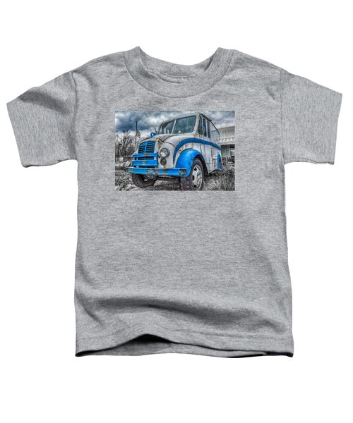 Blue And White Divco Toddler T-Shirt