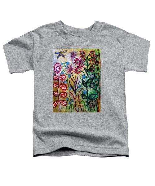 Blue Bug In The Magic Garden Toddler T-Shirt