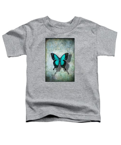 Blue Butterfly Resting Toddler T-Shirt