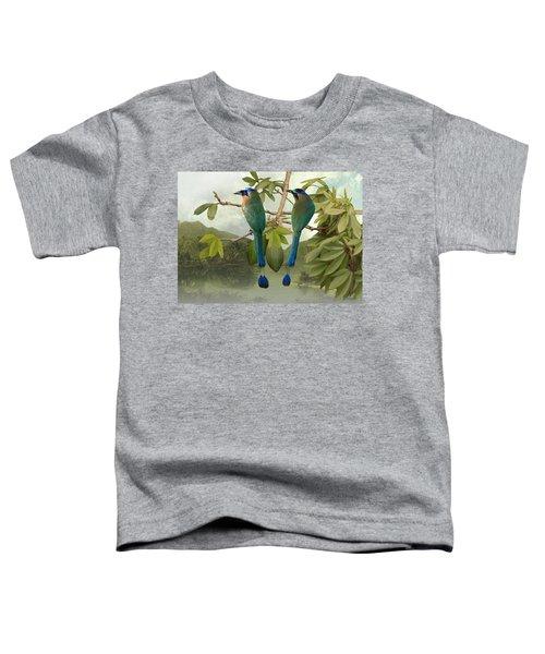 Blue-crowned Motmots In Kapok Tree Toddler T-Shirt