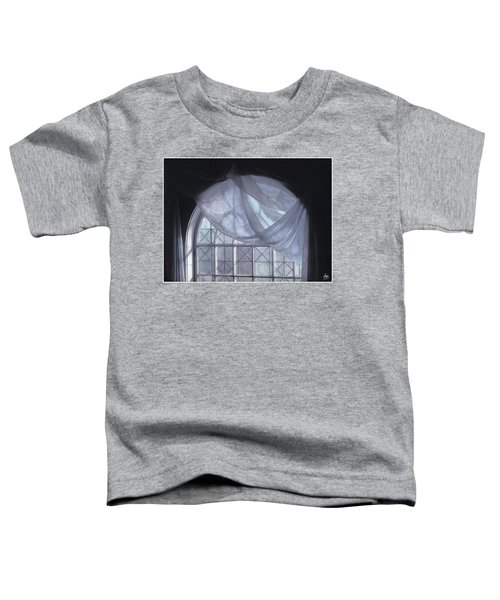 Hand-painted Blue Curtain In An Arch Window Toddler T-Shirt