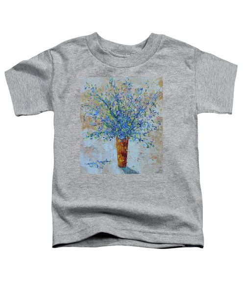 Blue Floral Toddler T-Shirt