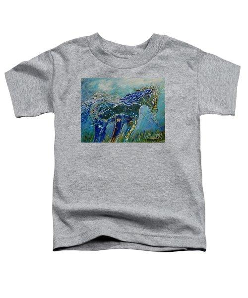 Blue Horse Toddler T-Shirt