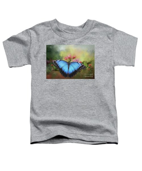 Blue Morpho On A Blossom Toddler T-Shirt