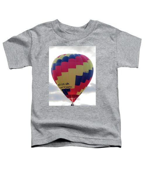 Blue, Red And Yellow Hot Air Balloon Toddler T-Shirt