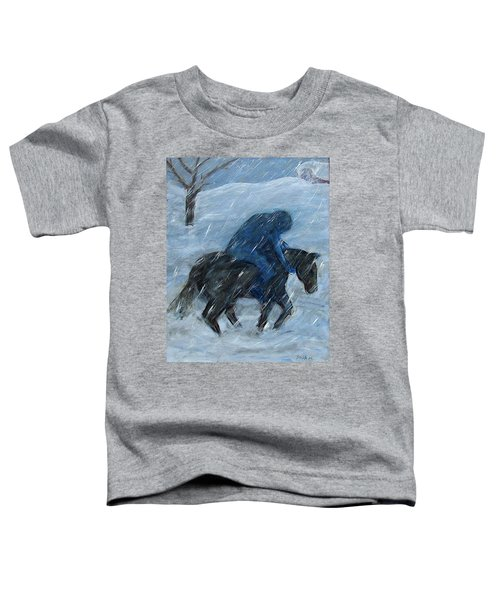 Blue Rider On Horse Toddler T-Shirt