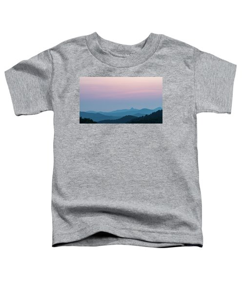 Blue Ridge Mountains After Sunset Toddler T-Shirt