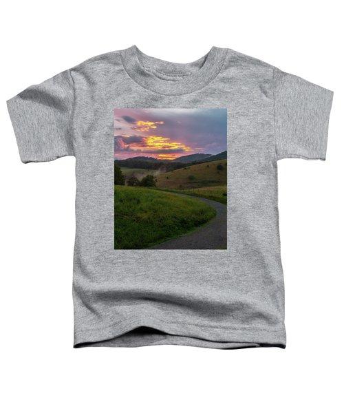 Blue Ridge Sunset Toddler T-Shirt