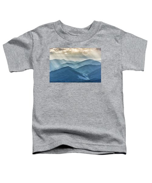 Blue Ridge Sunset Rays Toddler T-Shirt
