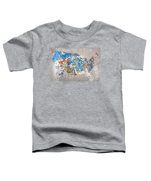 Blue Street Art Us Map Toddler T-Shirt