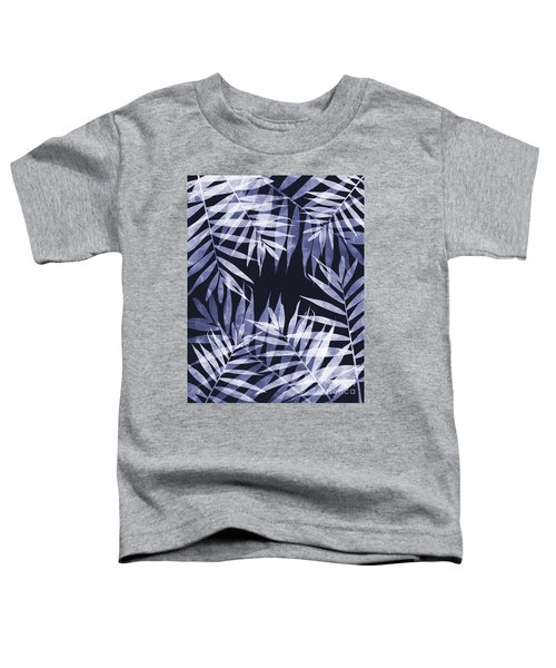Blue Tropical Leaves Toddler T-Shirt