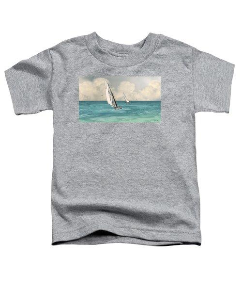 Bluewater Cruising Sailboats Toddler T-Shirt