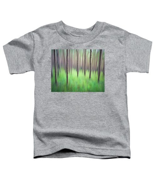 Toddler T-Shirt featuring the photograph Blurred Aspen Trees by Whit Richardson