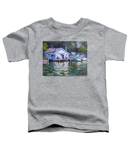 Boat House At Tonawanda Canal Toddler T-Shirt