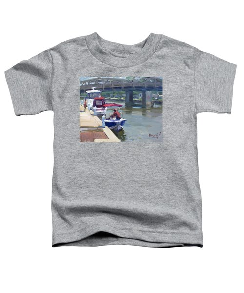 Boats At North Tonawanda Canal Toddler T-Shirt