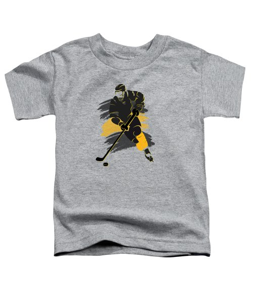 Boston Bruins Player Shirt Toddler T-Shirt by Joe Hamilton
