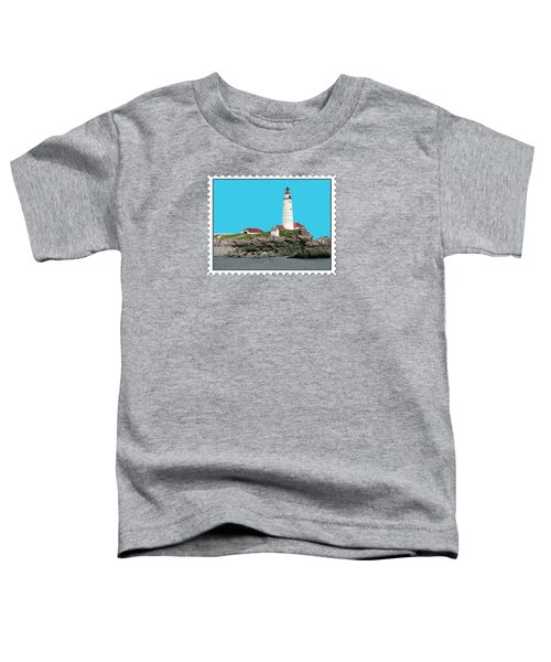 Boston Harbor Lighthouse Toddler T-Shirt by Elaine Plesser