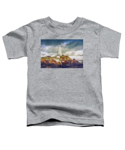 Boston Light On A Stormy Day Toddler T-Shirt