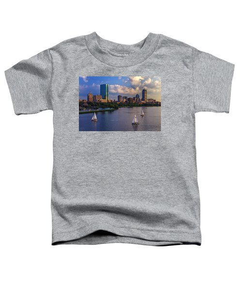 Boston Skyline Toddler T-Shirt