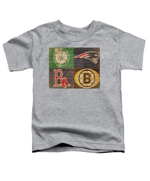 Boston Sports Teams Barn Door Toddler T-Shirt