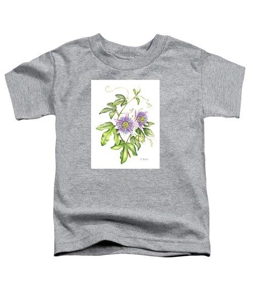 Botanical Illustration Passion Flower Toddler T-Shirt