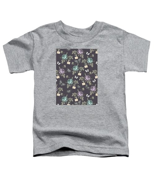 Botanical Roses Toddler T-Shirt by Stephanie Davies