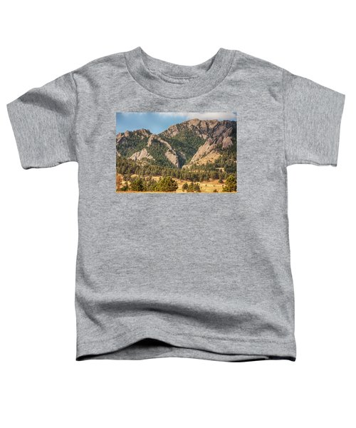 Toddler T-Shirt featuring the photograph Boulder Colorado Rocky Mountain Foothills by James BO Insogna