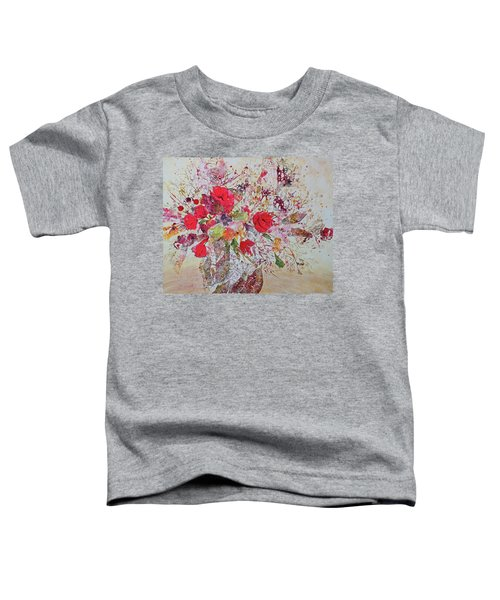 Toddler T-Shirt featuring the painting Paper Roses by Joanne Smoley