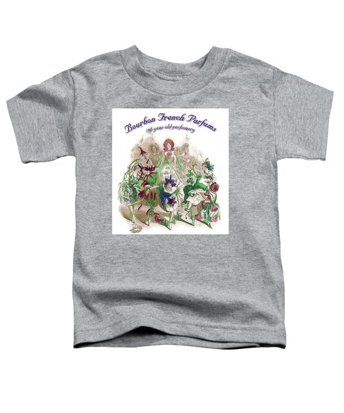 Toddler T-Shirt featuring the digital art Bourbon French Perfume by ReInVintaged