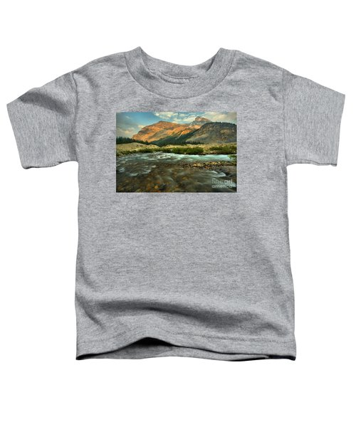 Bow Glacier Stream At Sunset Toddler T-Shirt