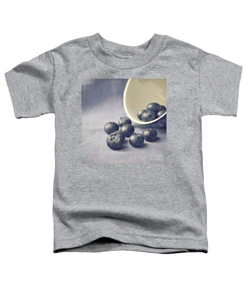Bowl Of Blueberries Toddler T-Shirt by Lyn Randle