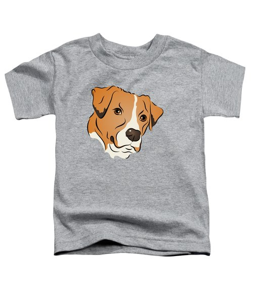 Boxer Mix Dog Graphic Portrait Toddler T-Shirt