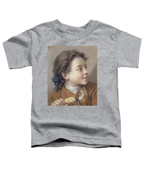 Boy With A Carrot, 1738 Toddler T-Shirt by Francois Boucher