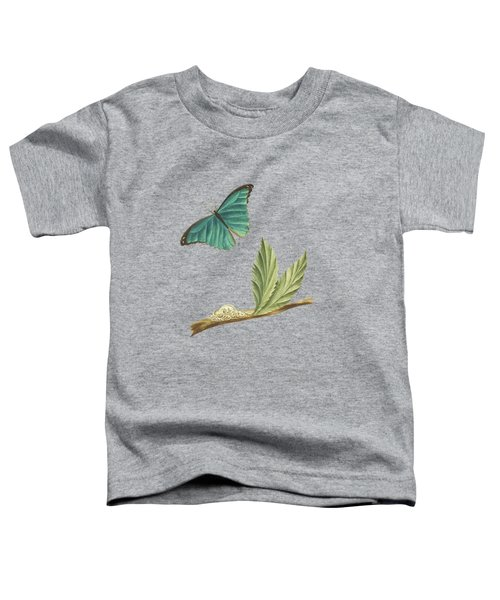Branch Of A Medlar Tree With Caterpillar And Butterfly By Cornelis Markee 1763 Toddler T-Shirt