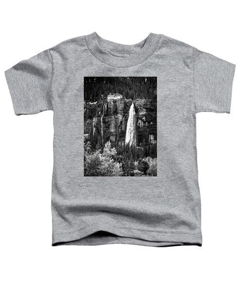 Bridal Veil Falls In Bw Toddler T-Shirt