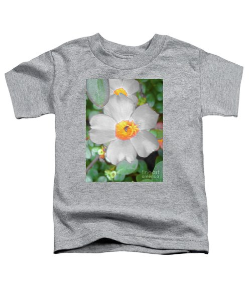 Bright White Vinca With Soft Green Toddler T-Shirt