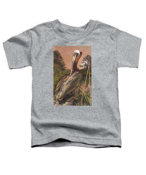 Brown Pelican Toddler T-Shirt