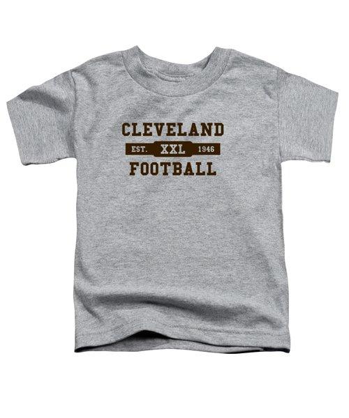 Browns Retro Shirt Toddler T-Shirt by Joe Hamilton