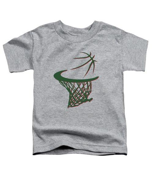 Bucks Basketball Hoop Toddler T-Shirt