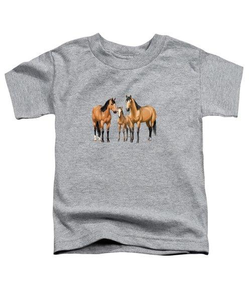 Buckskin Horses In Winter Pasture Toddler T-Shirt