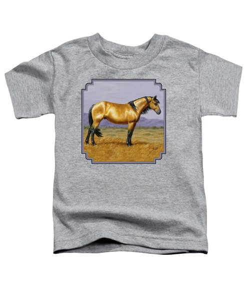 Buckskin Mustang Stallion Toddler T-Shirt