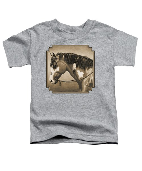 Buckskin War Horse In Sepia Toddler T-Shirt